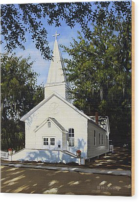 Old St. Andrew Church Wood Print by Rick McKinney