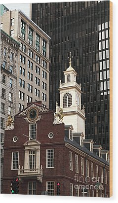 Old State House Wood Print by John Rizzuto