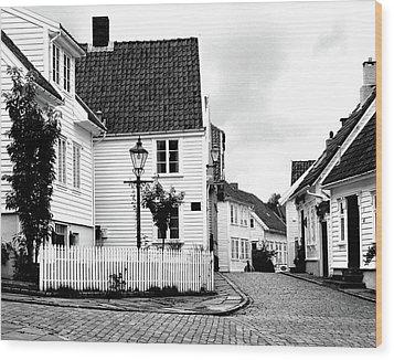 Old Stavanger I Wood Print by Helene Sobol