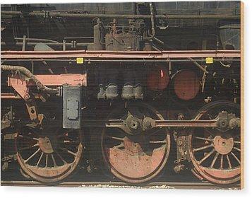 Old  Steam Train ...france Wood Print