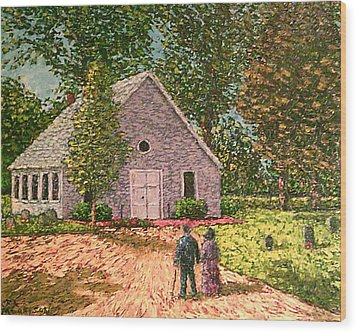 Old Stome Church Wood Print by Frank Morrison