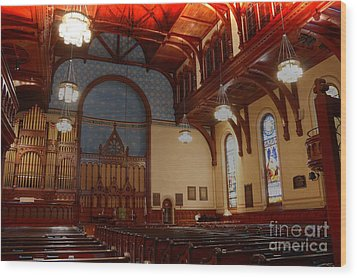 Old Stone Church -2 Wood Print by David Bearden
