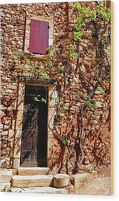 Old Stone House In Provence Wood Print by Olivier Le Queinec