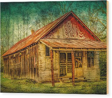 Old Store Wood Print by Phillip Burrow