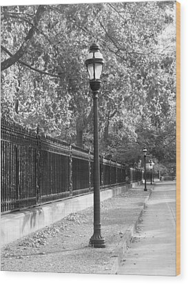 Old Street Lights Wood Print