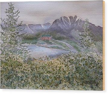 Old Susitna Lodge Wood Print by Joel Deutsch
