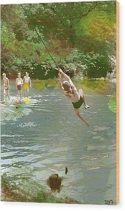 Old Swimming Hole Wood Print