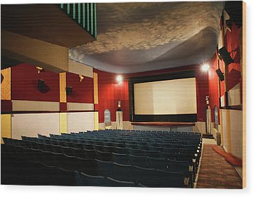 Old Theater Interior 1 Wood Print by Marilyn Hunt