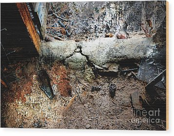 Old Threshold Paint Wood Print