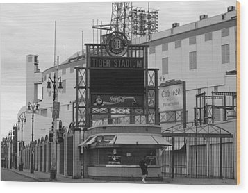 Old Tiger Stadium  Wood Print by Sabrina  Hall