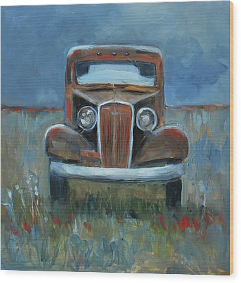 Wood Print featuring the painting Old Timer by Billie Colson