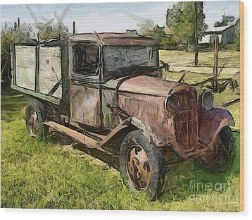 Old Timer Wood Print by Murphy Elliott