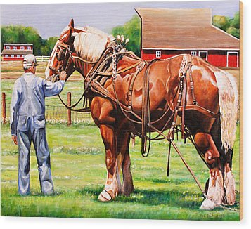Old Timers Wood Print by Toni Grote