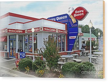 Old Timey Dairy Queen Wood Print by Patricia L Davidson
