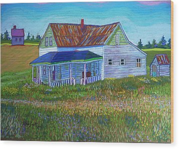 Old Tin Roof Wood Print