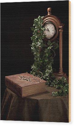 Old Tome I Wood Print by Tom Mc Nemar