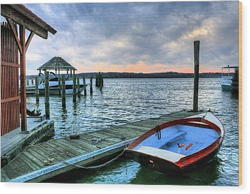 Old Town Charm Wood Print by JC Findley