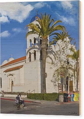 Old Town Church Wood Print by Patricia Stalter
