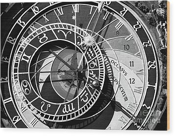 Old Town Clock Wood Print by John Rizzuto
