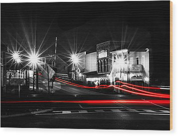 Old Town Helena At Night Wood Print by Shelby  Young