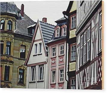 Old Town Mainz Wood Print by Sarah Loft
