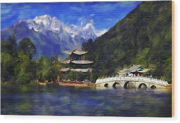 Old Town Of Lijiang Wood Print by Vincent Monozlay