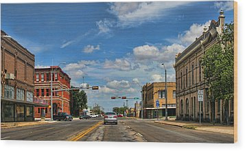 Old Town Taylor Intersection Wood Print by Linda Phelps
