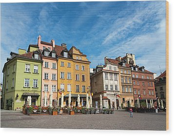 Old Town Warsaw Wood Print by Chevy Fleet