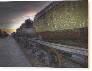 Old Train - Galveston, Tx 2 Wood Print