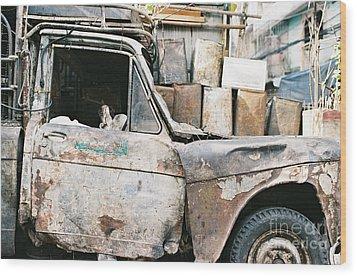 Old Truck Wood Print by Dean Harte