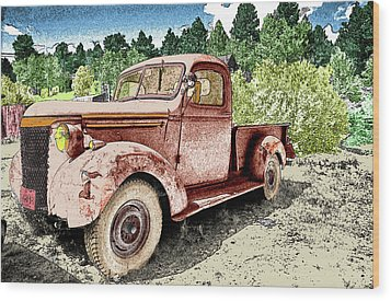 Old Truck Wood Print by James Steele