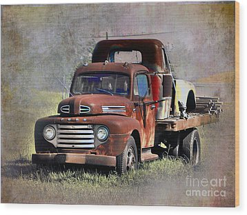 Wood Print featuring the photograph Old Trucks by Savannah Gibbs