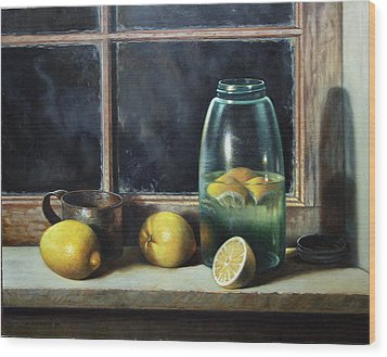 Wood Print featuring the painting Old Tyme Lemonade by William Albanese Sr