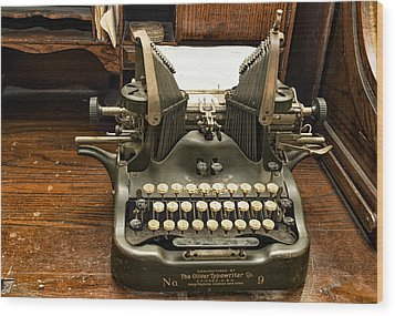 Wood Print featuring the photograph Old Typewriter by Linda Constant