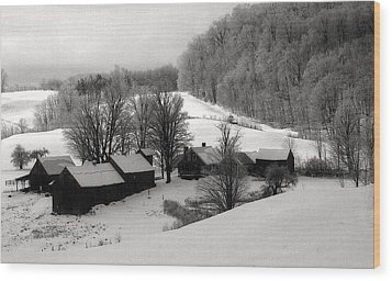 Wood Print featuring the photograph Old Vermont Farm by John Scates