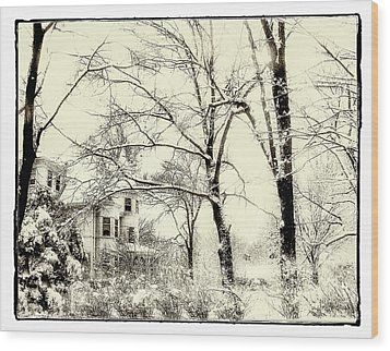 Wood Print featuring the photograph Old Victorian In Winter by Julie Palencia