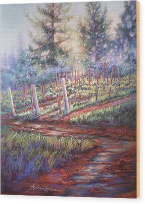 Old Vines And Fresh Rain Wood Print