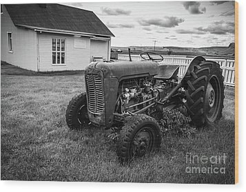 Wood Print featuring the photograph Old Vintage Tractor Iceland by Edward Fielding
