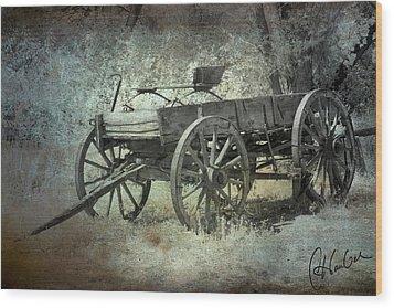 Old Wagon Wood Print by Christine Hauber
