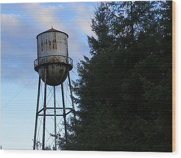 Old Water Tower Wood Print by Laurie Kidd
