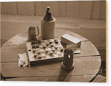 Old Way Of Life Series - Past Time Wood Print by Joe  Ng