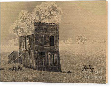 Old West Building Wood Print by Ronald Hoggard