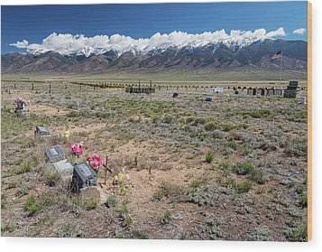 Old West Rocky Mountain Cemetery View Wood Print by James BO Insogna