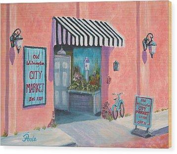 Old Wilmington City Market  Wood Print
