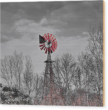 Old Wind Mill Wood Print by Robert Pearson