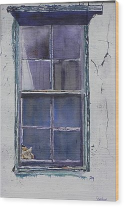 Old Window And New Home Wood Print by Christine Lathrop