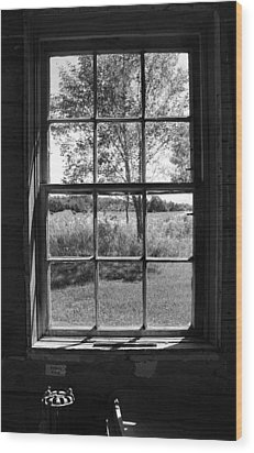 Old Window Bw Wood Print by Joanne Coyle