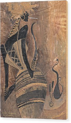 Wood Print featuring the painting Old Wine by Maya Manolova