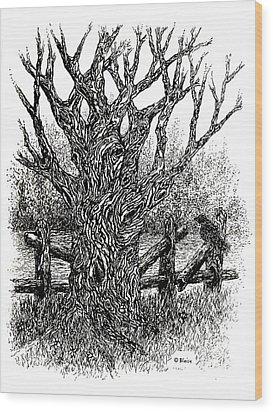 Old Wood And Hazy Days Wood Print