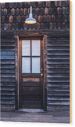 Wood Print featuring the photograph Old Wood Door And Light by Terry DeLuco